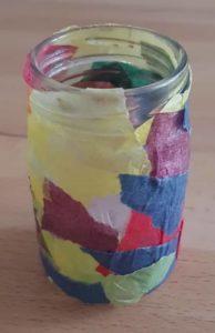 Glas mit Farbe basteln